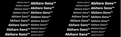 Abitare Sans' a typeface of 30 weights designed to be used in Abitare magazine. 50% off till Nov 1.