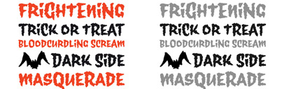 Wolfsblood' a font that suits for Halloween' by Jim Ford.