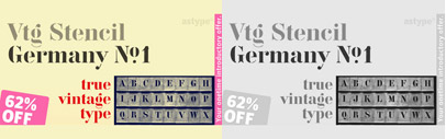 Vtg Stencil Germany No. 1' a stencil serif face. 62% off till Dec 1.