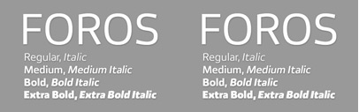 Foros' a new modern sans' by Paratype. One style: $ 5 till Dec 8; $ 25 after Dec 8.