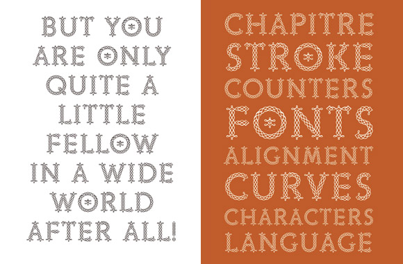 Font News New Font Release Chapitre A Typeface Based On The