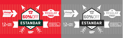 Estandar' a Vintage wayfinding sans serif' inspired by old signal in central park. 61% off till Jan 23.
