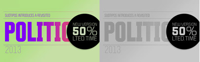 Politica family was expanded to 36 weights from thin to black. 50% off for a limited time.