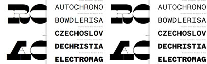 New fonts from Klim Type Foundry — Maelstrom and Founders Grotesk Mono.
