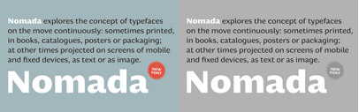 Nomada' a new sans serif' by Tipografies.