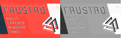 Frustro is a display typeface with a multistable perception phenomenon' based on the principles of the Penrose triangle. Also' it is a layered typeface with 6 styles.