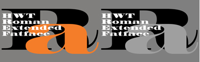 HWT Roman Extended Fatface has a history going back to the early 1800s. This new version has been scaled to match HWT Roman Extended Lightface. Introductory Sale – 20% off until February 9th.