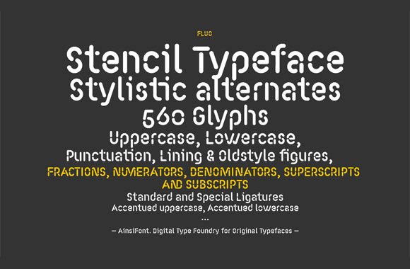 Font News [New Font Release] Fluo, a stencil-ized rounded