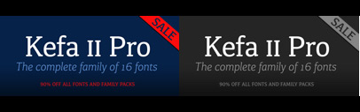 Kefa II Pro' a redesign of the Apple system font Kefa' 90% of till February 27.