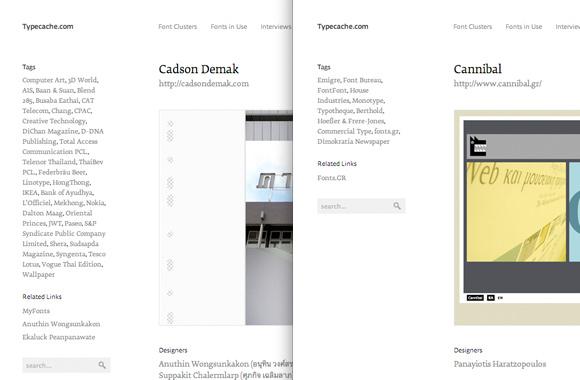 Font News [Typecache Update] New type foundries, Cadson Demak and