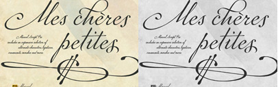 P22 Marcel is based on love letters from a man in a German labor camp during WWII to his wife in France. This beautiful script font is available at 20% until the end of February.