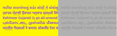 Kohinoor Gujarati' a new Gujarati typeface' by Indian Type Foundry.