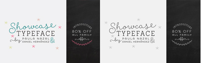 Showcase' a handmade typeface' by @Latinotype. 80% off till April 12.