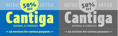 Cantiga by @isacotype consists of 44 styles; 2 widths' 11 weights and their corresponding italics. 50% off till April 15.