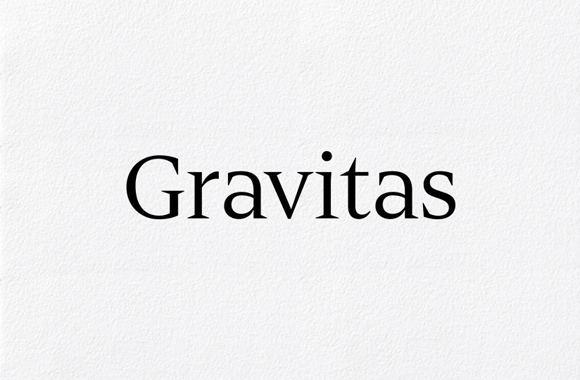 Font News [New Font Release] Gravitas, a contemporary take