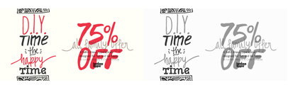 D.I.Y. Time' a hand drawn type system published by @Latinotype. 75% off till April 24.