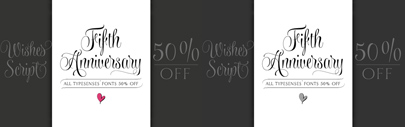 Wishes Script is 50% off till April 23.