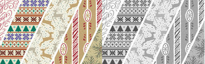 Winter Wallflowers — 25 unique hand drawn wallpaper tiles and 61 accompanying icons by Laura Worthington.