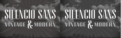 Silencio Sans' a typeface inspired by movie title credits' designed by Jessica Hische.