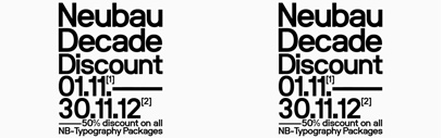 50% Discount on any Neubau Type-Package till November 30th.
