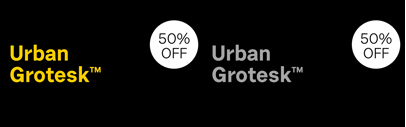 Urban Grotesk by @SCTF. 50% off till June 25 at MyFonts