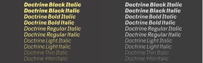 Doctrine has been updated with a full set of italics.