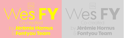 Wes FY' a geometric sans serif with large x-height' by @fontyouverymuch