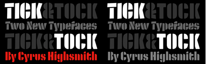 Tick and Tock' two stencil typefaces by @CyrusHighsmith