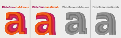 Distefano Sans and Distefano Slab by Tipo are available.