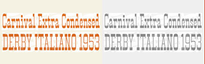 Carnival Extra Condensed digitized by @typeoff is available at @photolettering.