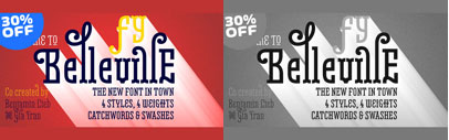 Belleville FY consists of 4 styles and each style has 4 weights. 30% off till Aug 24.