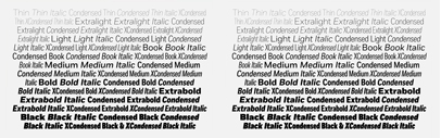 Fort Condensed and Fort X-Condensed' narrower versions of Fort' by @mckltype
