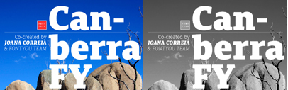 Canberra FY' a contemporary and low-contrast serif typeface' by @fontyouverymuch
