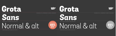Grota Sans by @Latinotype. Grota Sans Complete Family is 85% off till Sep 12.