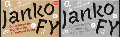 Janko FY' a crisp disconnected brush script' by @Fontyou