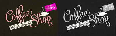 Powder Script' a showy brush style script family. 35% off until Sep 26.