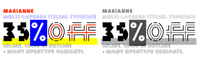 Mariaane' a multi-layered typeface' by @benoitbodhuin' is 35% off till Aug 31.