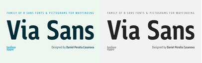 Via Sans by @Latinotype. Via Sans family is 70% off till October 16.