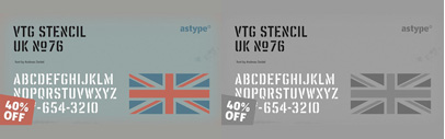 Vtg Stencil UK No 76' derived from authentic stencil plates from Great Britain. 40% off till Sep 30.