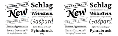 Pepone comes with a lot of swashes and ligatures. Stencil version is also available.