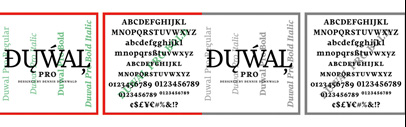 Duwal Pro designed by Dennis Dünnwald published by @VolcanoType.