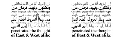 29LT Zeyn' an elegant' contemporary Arabic and Latin typeface. Designed by Pascal Zoghbi [29 Letters] and Ian Party [SwissTypefaces].