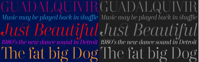 Carmen Display Fine and Italic have been released by Typerepublic.