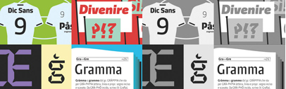 Dic Sans' Divenire' Brevier' and Gramma by CAST' a new foundry