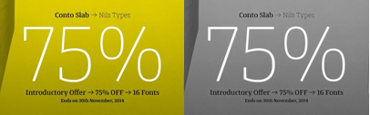 Conto Slab by @NilsThomsen. 75% off till Nov 30.