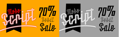 Moho Script by John Moore Type Foundry. 70% off until Dec 11.